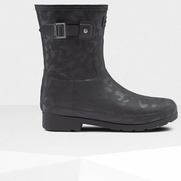 Hunter Leopard Insulated Short Boot